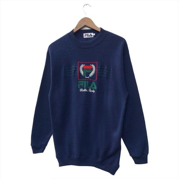 Fila Sweatshirt Spellout Big Logo Pullover Size M - image 2