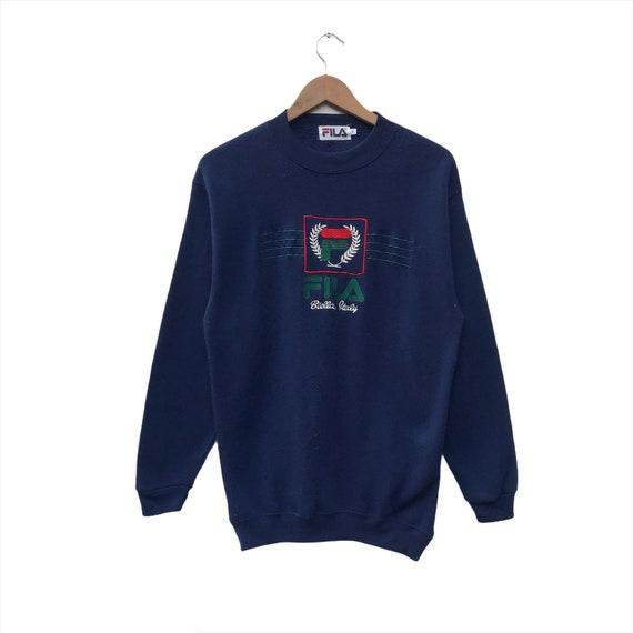 Fila Sweatshirt Spellout Big Logo Pullover Size M