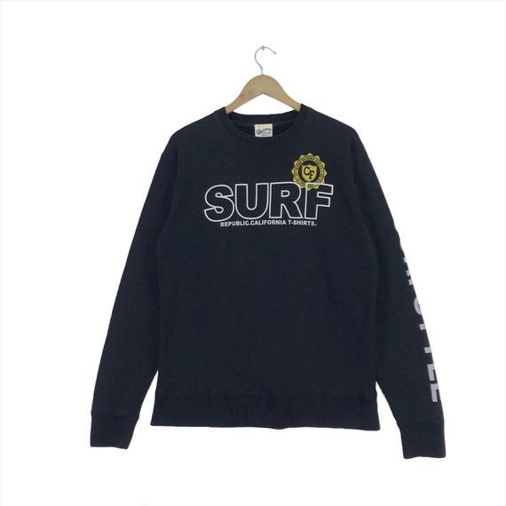 PICK!!Vintage PJS Surf Embroidery Crewneck Sweatshirt Pjs Surf Sweater Pjs Surf Small Logo Crewneck Sweatshirt size L