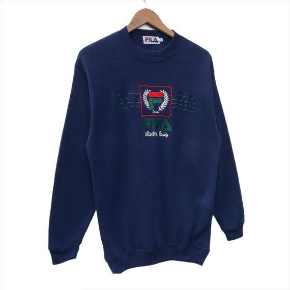Fila Sweatshirt Spellout Big Logo Pullover Size M - image 3