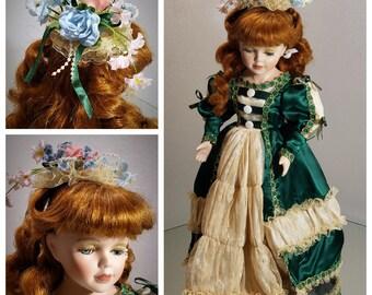 Shy vintage porcelain doll after doll hospital