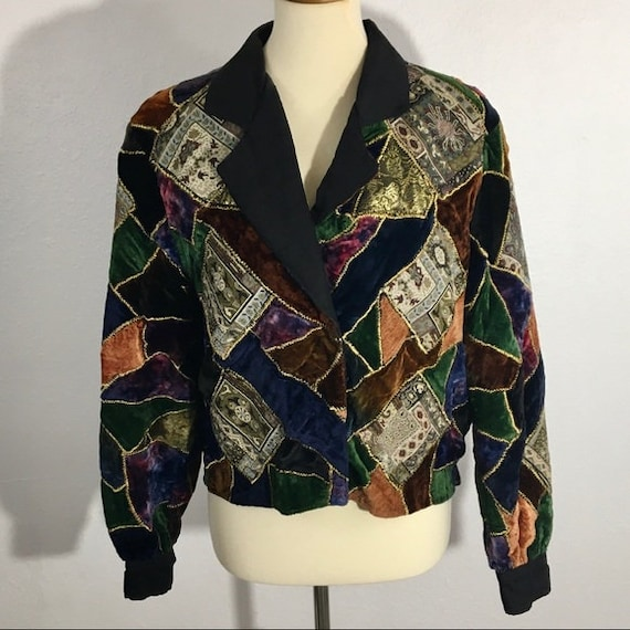 Vintage JA Resort Multicolored Patchwork Tapestry