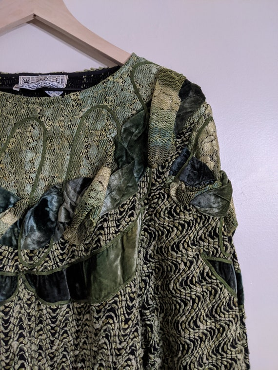 80s Designer Mixed Media / Patchwork Sweater (Carr