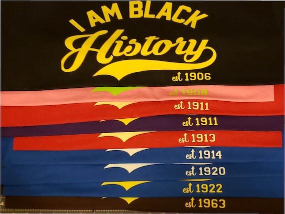 Black Greek Inspired History Shirts