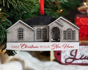Personalized House Ornament | Custom Christmas Ornament | Housewarming Present | Our First Home | Holiday Decorations