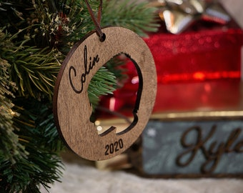 Personalized Silhouette Ornaments | Custom Christmas Ornaments | Holiday Decorations