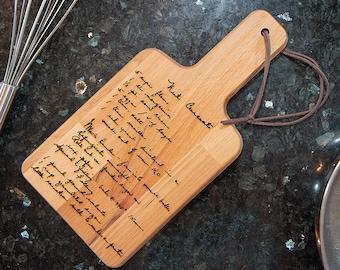 Engraved Recipe Cutting Board | Handwritten Recipe | Personalized Wood Cutting Board | Keepsakes & Heirlooms