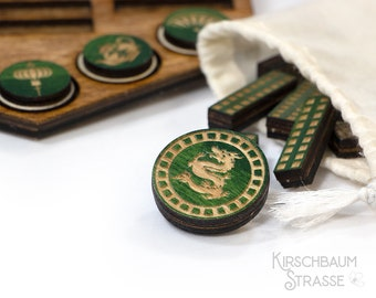 Wooden Game Pieces | Ancient Civilization Player Tokens | Laser Engraved | Board Game Add-On