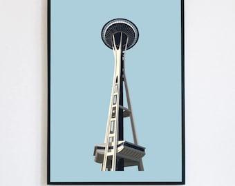 Seattle Space Needle Wall Art/Space Needle/ Seattle Wall Art/ PNW/PNW Wall Art/Seattle Art/ Seattle Kraken/Seattle Poster/Seattle Map/PNW