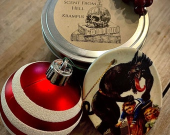 Hand Crafted Soy Wax Candle Krampus Eve