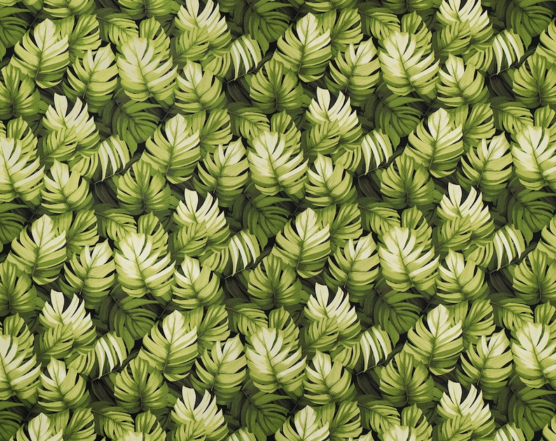 Leaf Stack 100/% Cotton Poplin Fabric Cut by the Yard GM-008R Blue, Green, Taupe