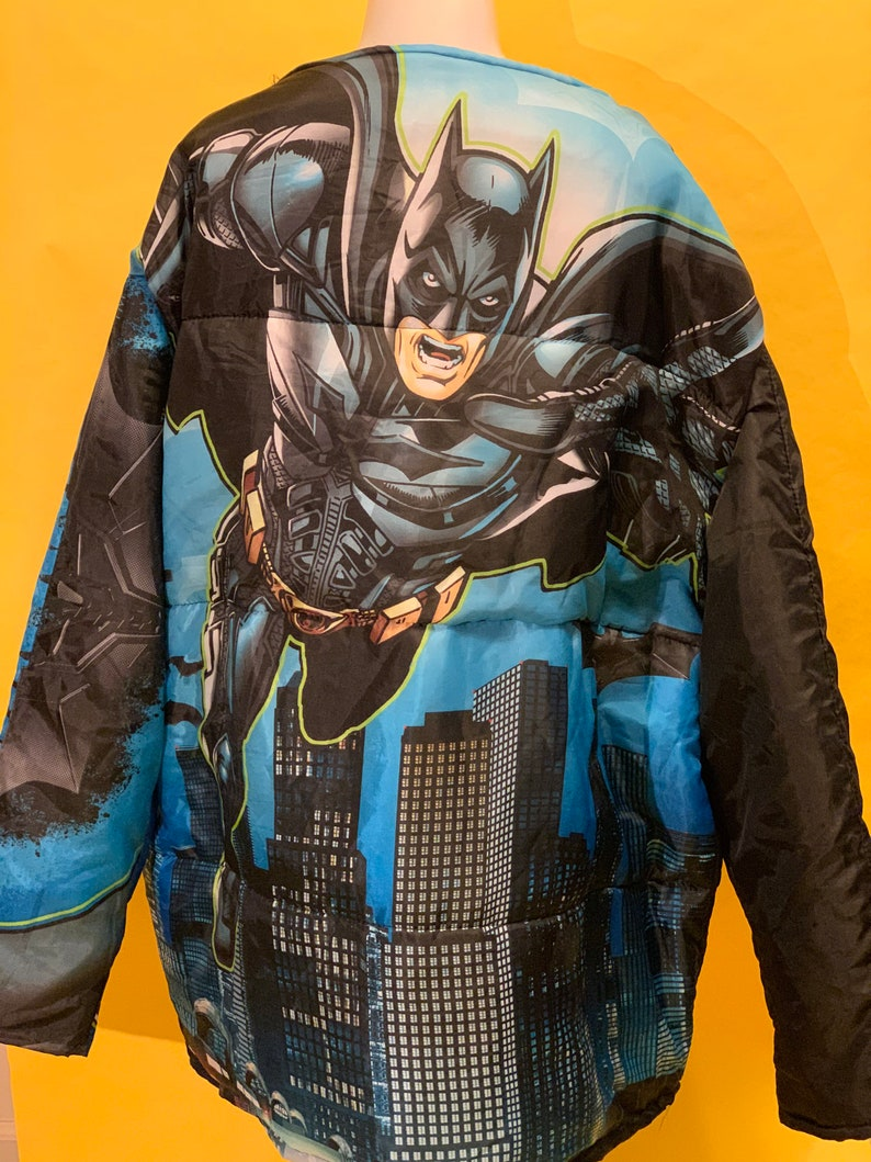 xplicit Knits Batman oversized sleeping bag coat