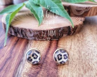 Earrings The gold leopard 12 mm