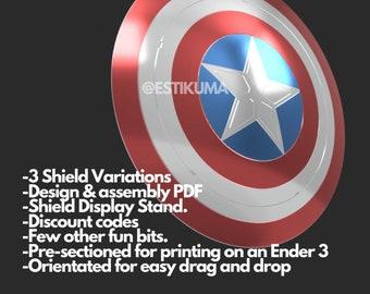 Captain America Shield - STL - 3D Files