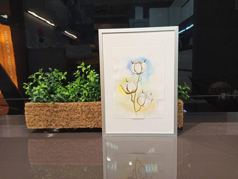 original watercolor organi\u0441 cotton nature eco style ecology plant