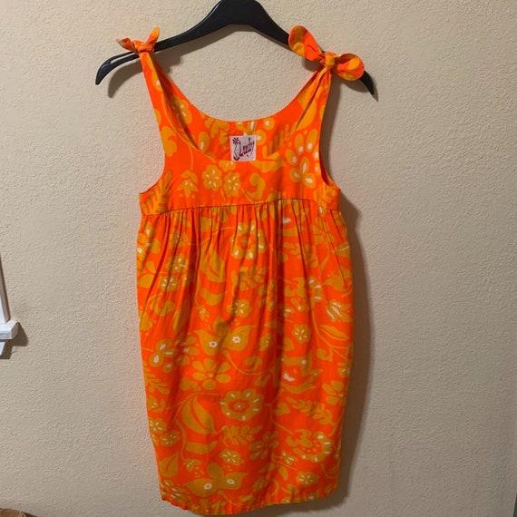 vintage orange floral sundress