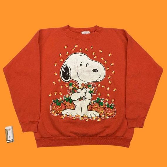 vintage 90s snoopy peanuts halloween sweater