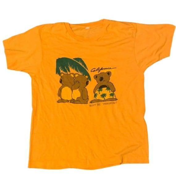 vintage 80s tshirt california tshirt