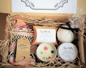 Pamper Box   Gift For Her   Personalised    Hug in a Box    Friend Gift   Bundle Box   Pick me up Box   Birthday Gift   Handmade Candle