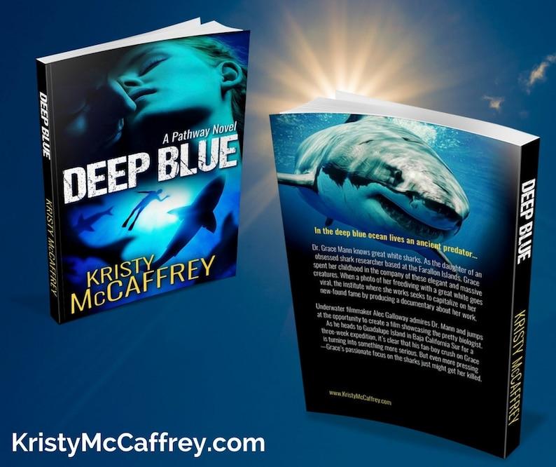Signed Paperback of DEEP BLUE by Kristy McCaffrey image 1