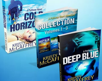 Signed Set of Paperbacks of Deep Blue, Cold Horizon, and A Pathway Short Adventure Collection (Vol. 1 – 3) by Kristy McCaffrey