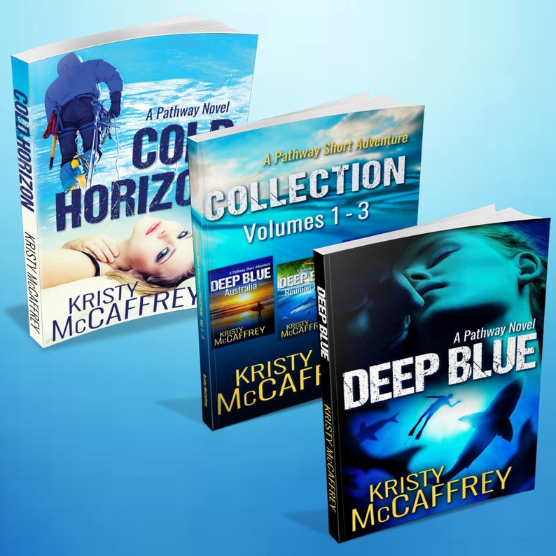 Signed Set of Paperbacks of Deep Blue Cold Horizon and A image 1