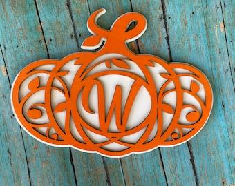 Personalized Monogram Pumpkin