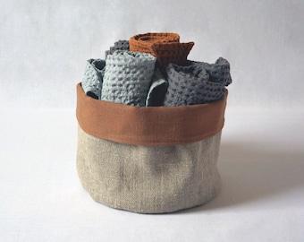 Trinket Basket Bread Basket Decorative Table Basket Roll Basket Handmade Cotton Roll Basket Fabric Bread Basket Cotton Bread Basket