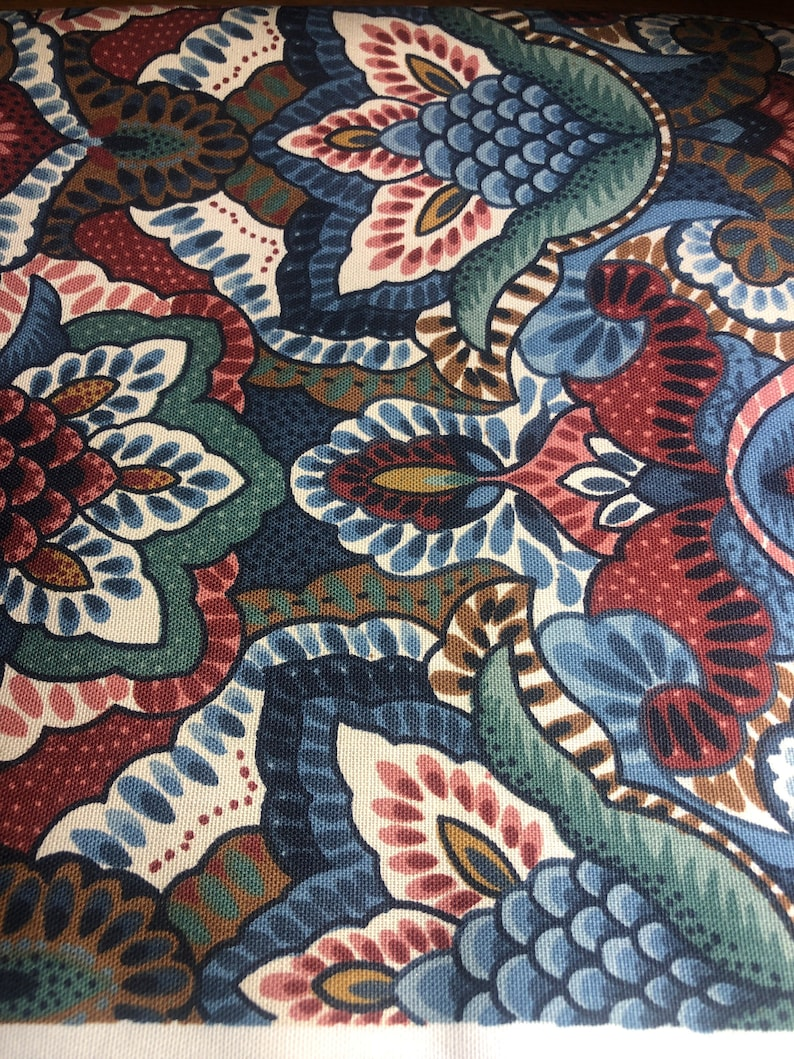 Vintage Waverly \u201cPurdy\u201d Authentic home decor fabric BTY 36L x 54w #48 4 available