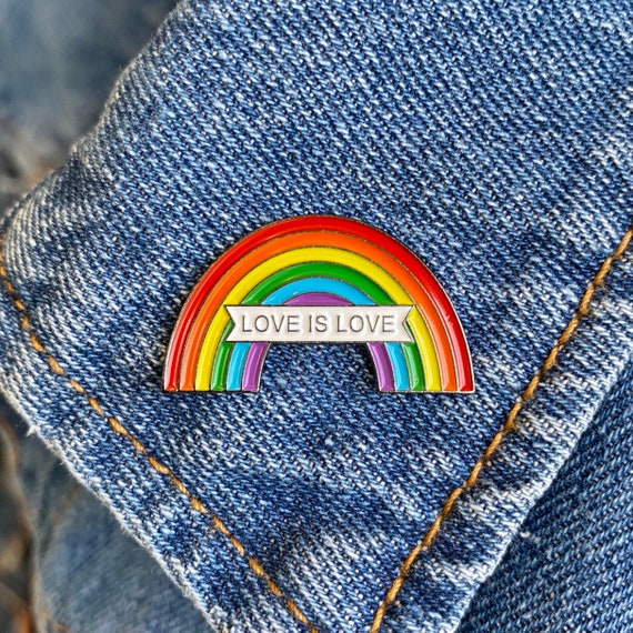 LGBTQ Pride Rainbow Pin Equal Rights Easter Basket Human Rights Love is Love Wins LGBT Pride We Are All Human Pin Easter Gifts