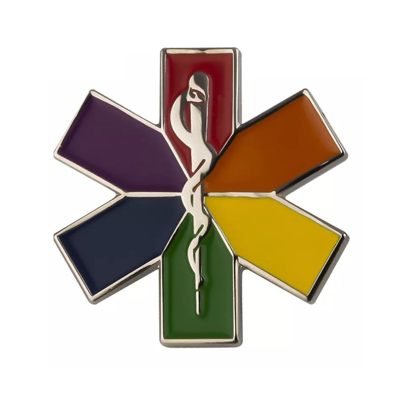 Easter Basket Easter Gifts Rainbow Star of Life Pin LGBT Pin Nursing Ambulance EMT Paramedic Gifts Front Line Worker Gift Rainbow Pin