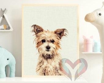 Sweet Dog Art Print. Printable Poster, Instant Digital Download, Nursery , Modern Minimalist, Portrait
