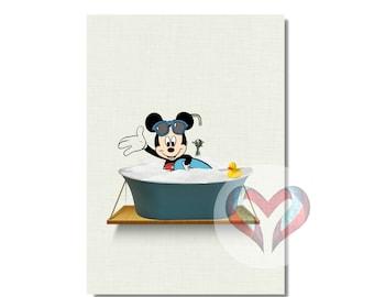 Mickey Art Print. Printable Poster, Instant Digital Download,  Nursery , Modern Minimalist,