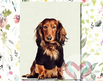 Teckel Art Print. Printable Poster, Instant Digital Download, Nursery , Modern Minimalist, Portrait