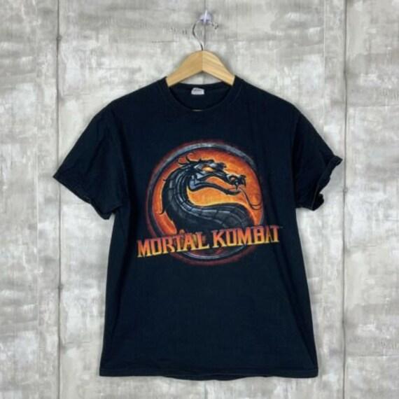 Mortal Kombat Vintage T-Shirt Size Large Black Ona