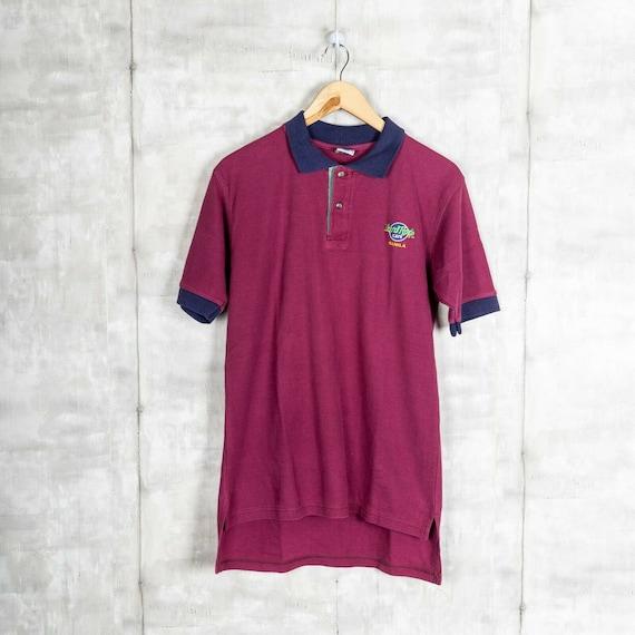 Vintage Hard Rock Cafe Manila Collared T-Shirt Red