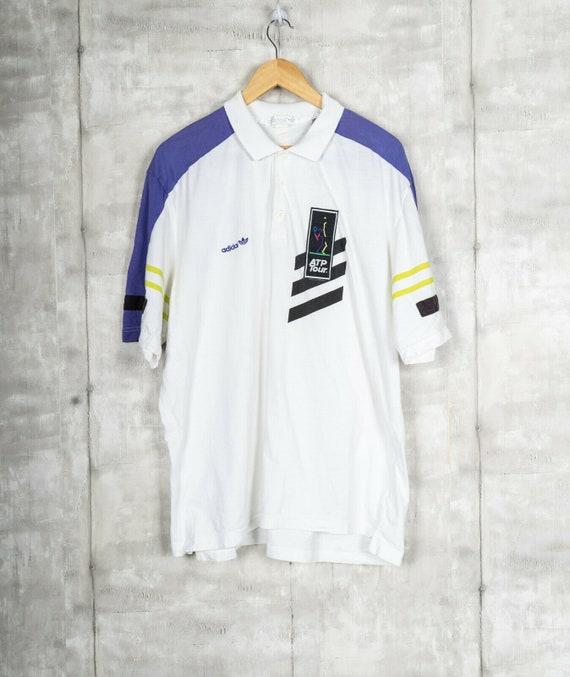 Vintage 90s Adidas Tennis ATP Tour BIG PRINT Colla