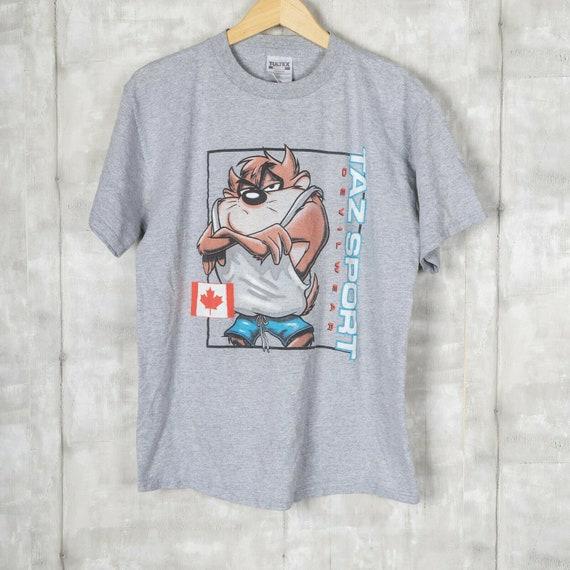 Taz Sport Vintage T-shirt Size Large Gray Polo Spo