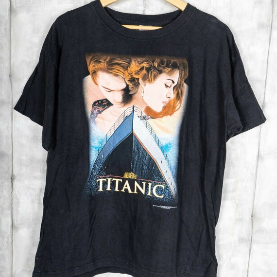 1998 Titanic Big Print Movie Promo Vintage T-Shirt