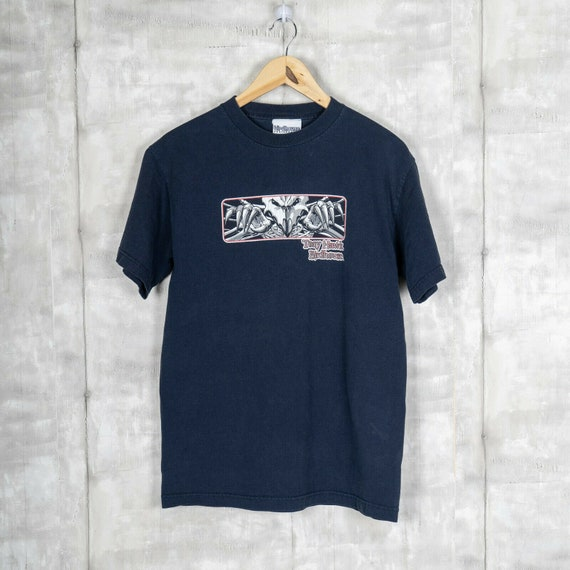 Vintage Birdhouse Skateboards Blue T-Shirt Size Me