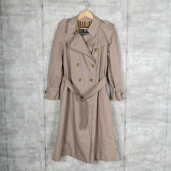 Burberry Trench Coat Vintage Jacket Size Large Bei