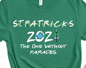 Shamrock With Mask St Patrick/'s Day 2021 Shirt Patrick/'s Day 2021 St Quarantine St.Patrick/'s Day 2021 T-Shirt Social Distance Shirt