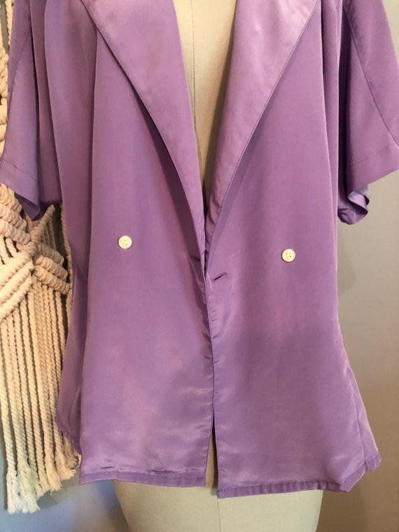 Vintage Lilac Purple Blouse - image 2