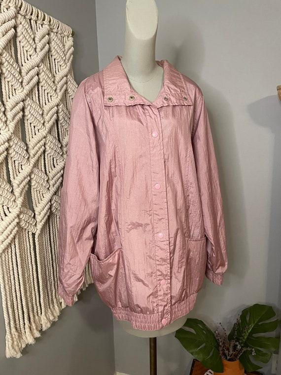 Vintage 1980s Pink Windbreaker