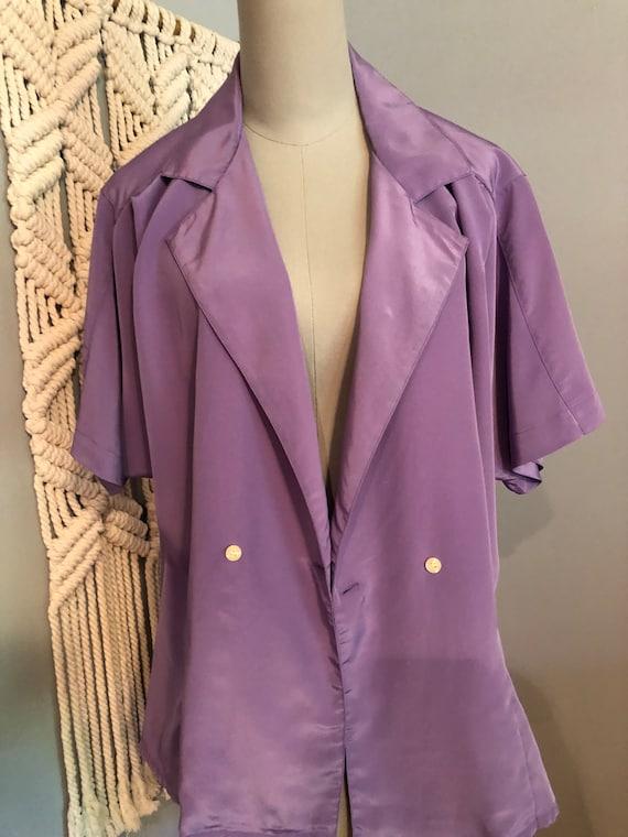 Vintage Lilac Purple Blouse - image 3