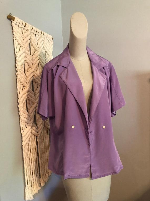 Vintage Lilac Purple Blouse - image 1