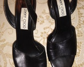 Authentic Jimmy Choo Leather Sling Back Heels
