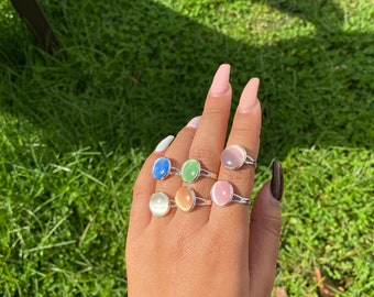 Gem rings - Gold plated