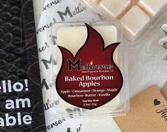 Baked Bourbon Apples |Apple • Cinnamon • Bourbon • Butter • Maple • Vanilla| Soy Wax Melt | Soy Wax Tart | Phthalate Free | 100% Soy Wax 6pk