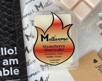Strawberry Shortcake | Strawberry • Cake • Vanilla • Cream | Soy Wax Melt | Soy Wax Tart | Phthalate Free | 100% Soy Wax 6pk